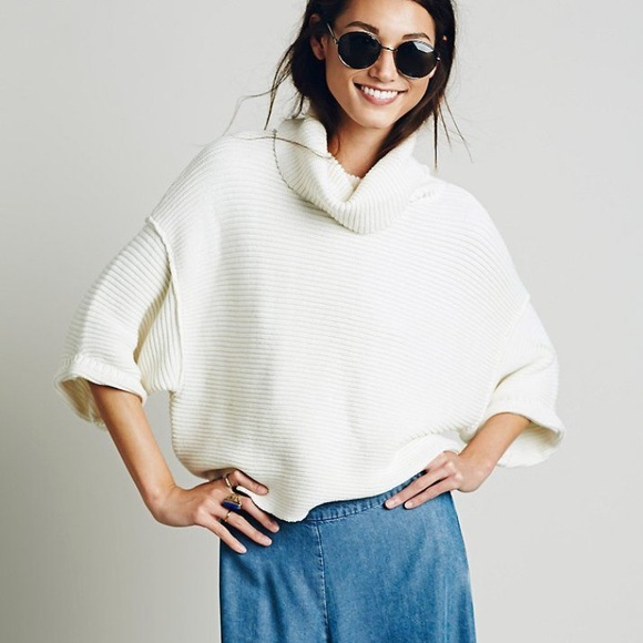 f8e22000d8e Free People Sweaters | Boxy Turtleneck Sweater In Natural | Poshmark